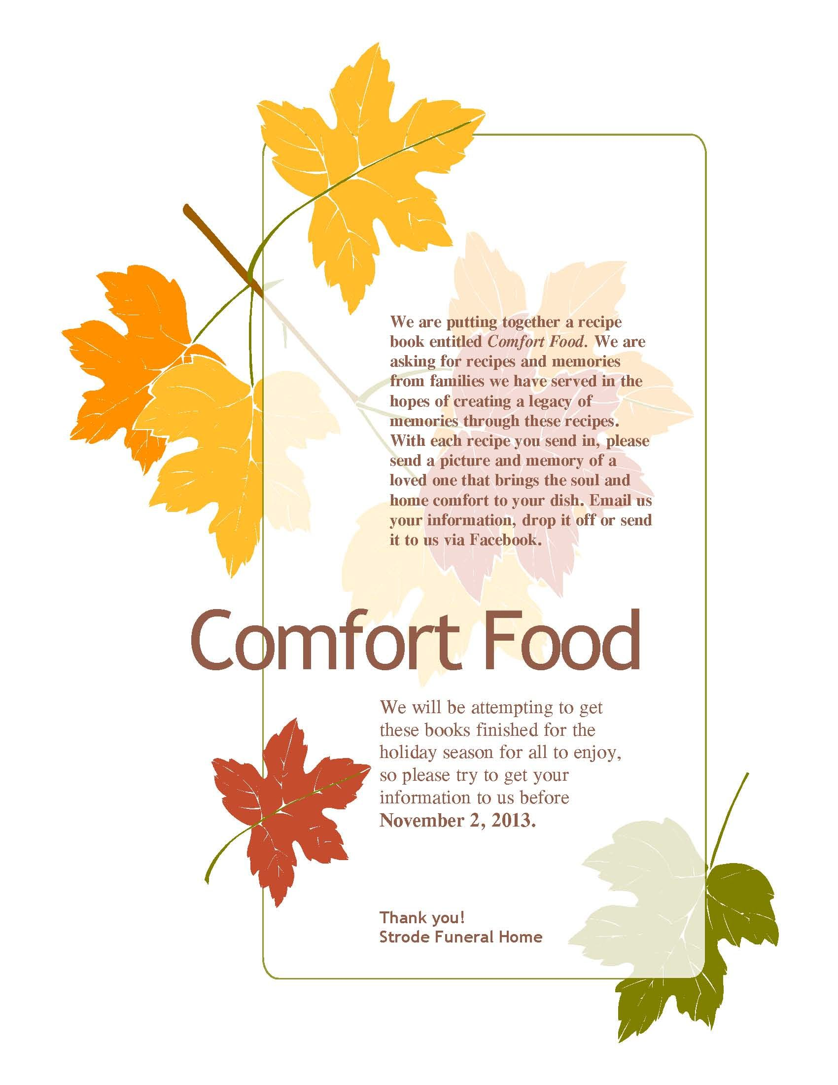Comfort Food Send Us A Recipe That Reminds You Of A Loved One And
