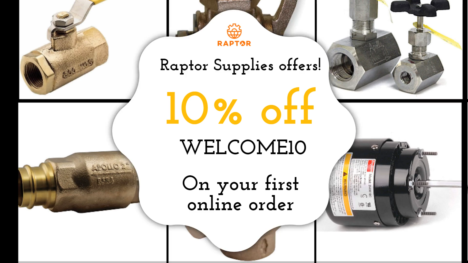We are proud to be your single-source supplier of all of your MRO product needs! Now get 10% OFF on your first online order. Use code WELCOME10 at checkout. #raptorsupplies #UnitedKingdom #tools #industrial #MROsupplier #Discount #IndustrialParts