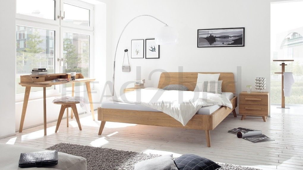 Hasena Masito Edda Solid Oak Modern Bed in 2020 | Oak ...