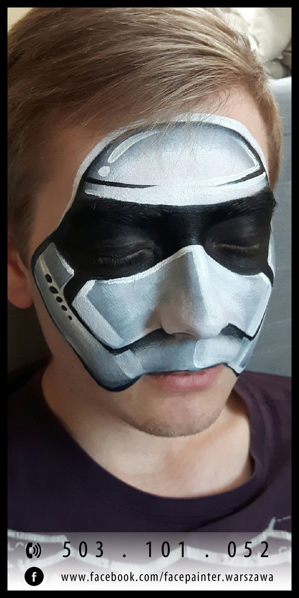 stormtrooper star wars face paint face painting pinterest jongens jongen en paints. Black Bedroom Furniture Sets. Home Design Ideas