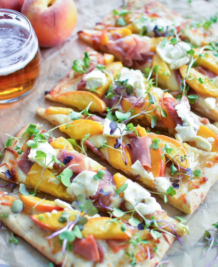 Prosciutto Flatbread with IPA Caramelized Peaches | Cooking and Beer