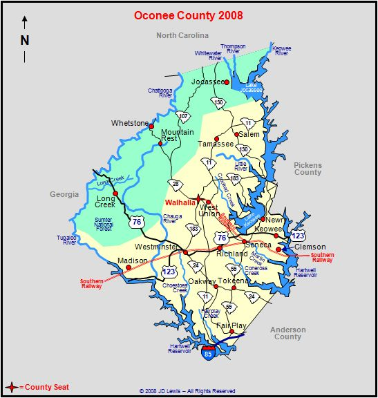 Oconee County, South Carolina Wahalla is where the Coffee's