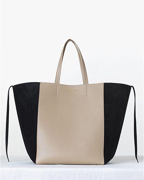 Celine Beige Bicolor Phantom Cabas Tote bag - Fall 2013   Bag lady ...