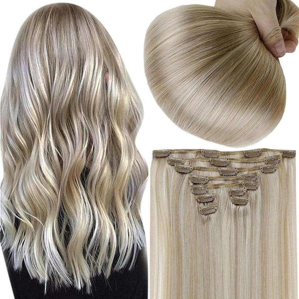 Bis zu 70% Rabatt auf Full Shine Clip in Extensions 100% Remy Echthaar 7 Stück Blond (#18P613) (Nur US-Adresse) – 14 100g / #18P613
