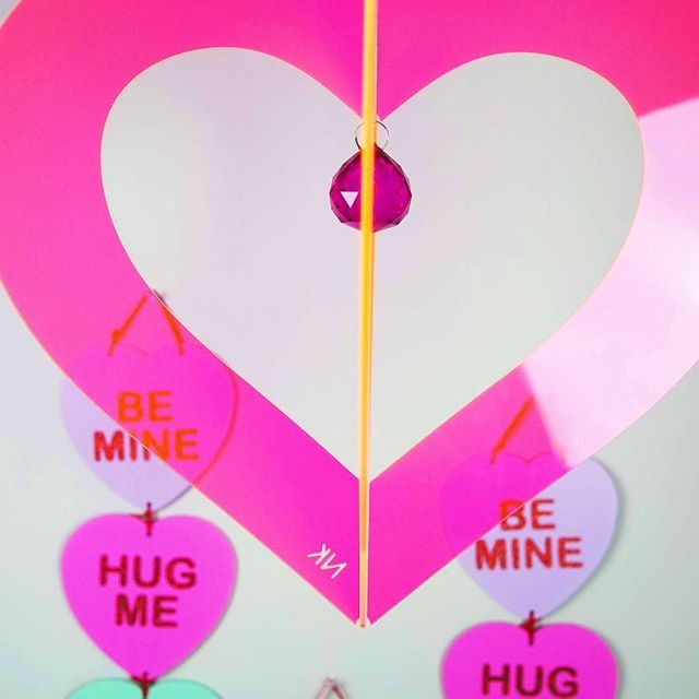 Pink Everyday This Week So Buckle In I M Just Loving Neon Heart Chandelier We Designed Popped A Vintage Hot Crystal And Sh