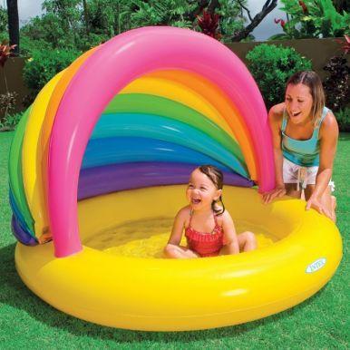 Rainbow Shade Paddling Pool Baby Paddling Pool Children Swimming Pool Plastic Kids Pool