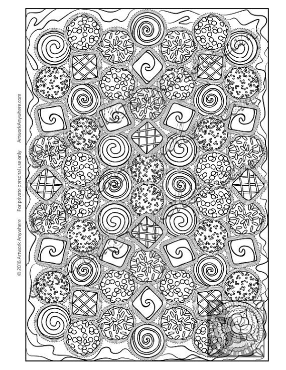 Try this Candy Kaleidoscope Mixed Chocolate coloring page by ...