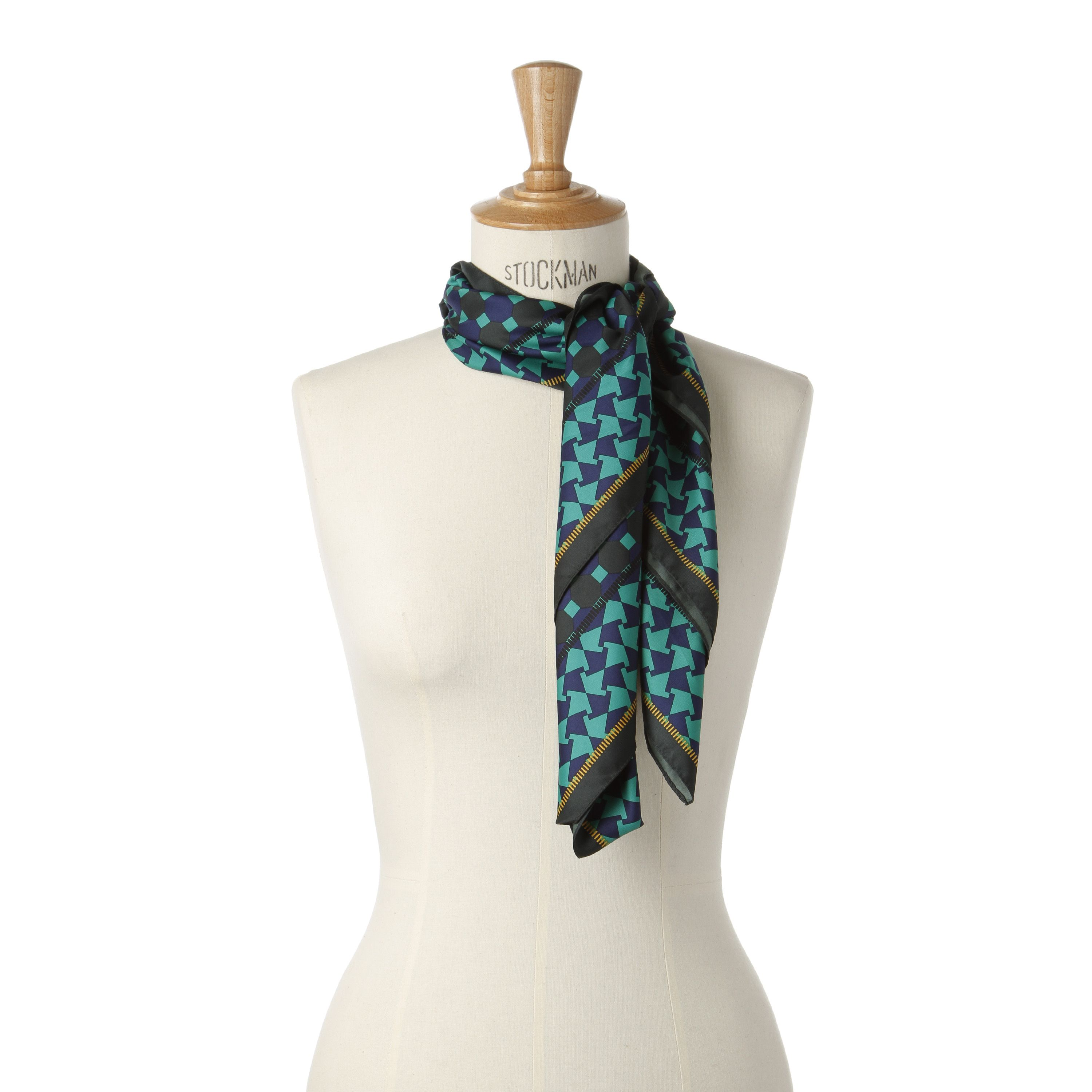 Scarf with mixed prints.  By Veritas.