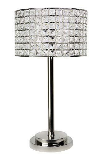Grandview Gallery 25 75 Polished Nickel Modern Glam Table Lamp