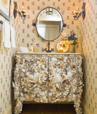 Bathroom Decorating Ideas+Seashells seashell bathroom nautical idea.   seashell nautical furniture