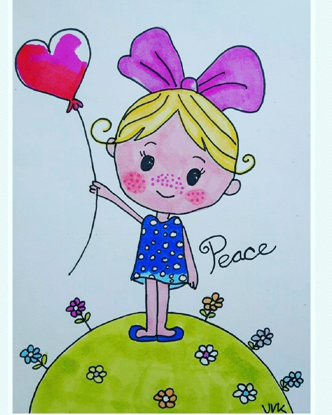 Vrede Vredeskind Meisje Met Strik Peace Sweet Girl With Heart Balloon Design A Second Life The Netherlands Ballonnen Vrede Grappige Teksten