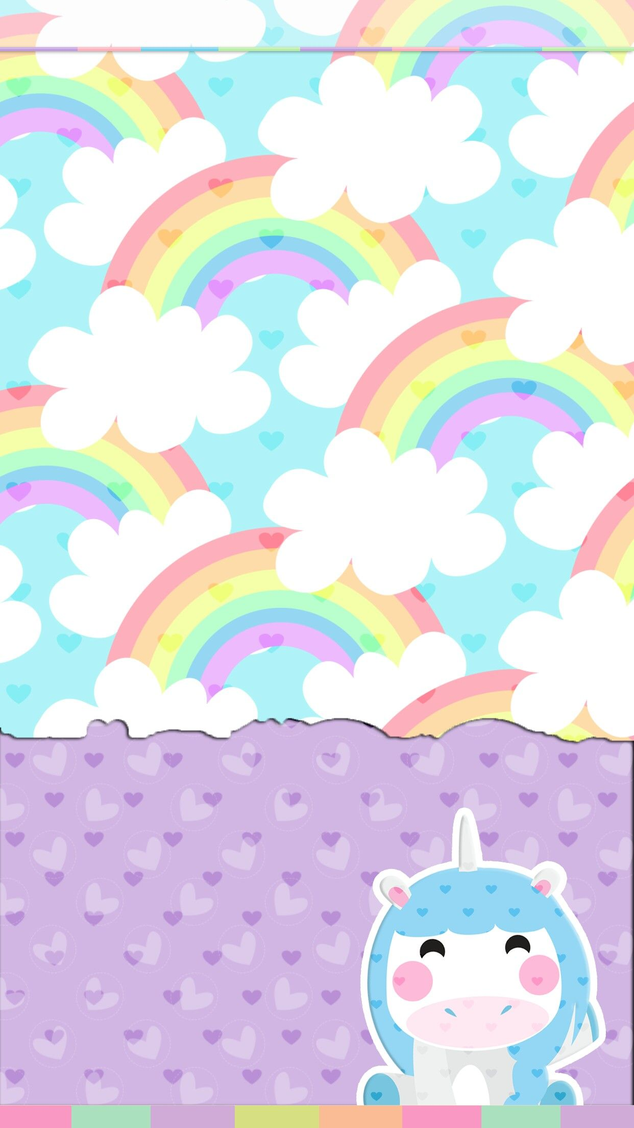 Unicorn And Rainbows Wallpaper Cute With Images Rainbow