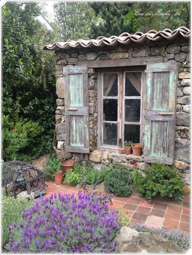 Shed Plans My Shed Plans Cabanon Provencal Ideas More At Fosterginger Pinterest Now You Can Gartengestaltung Cottage Garten Gartenstruktur