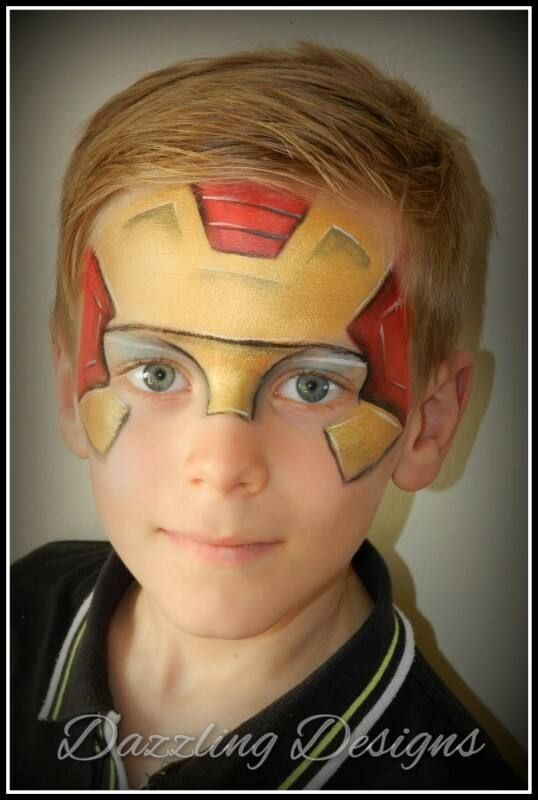 iron man mask by emma pavey characters face painting for boys