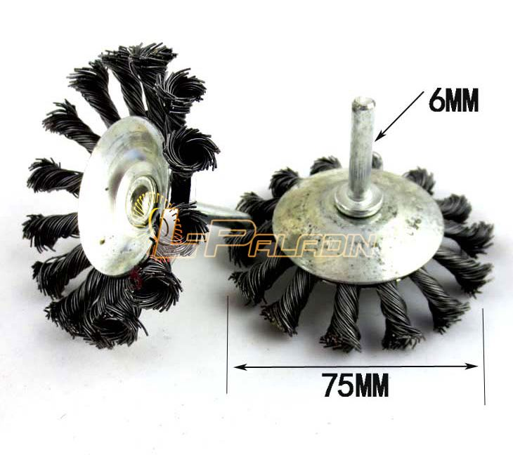 Mounted Twisted Steel Wire Wheel Brush Decontamination Oil Paint ...