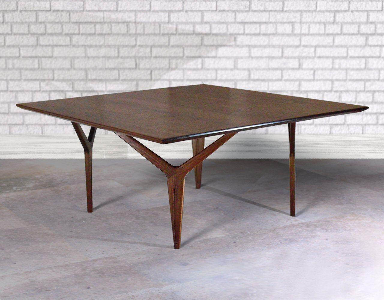 Walnut Coffee Table Modern Wishbone Leg Design Mid Century Danish Design Influence Walnut Coffee Table Modern Walnut Coffee Table Large Square Coffee Table [ 1000 x 1280 Pixel ]