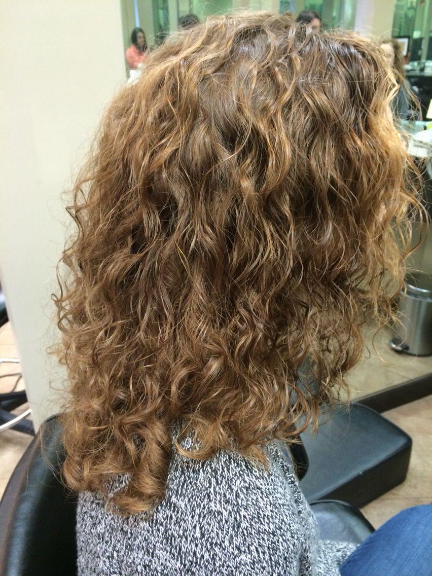 Straight perm hair care - Long Hair Spiral Piggy Back Perm On Naturally Straight Hair