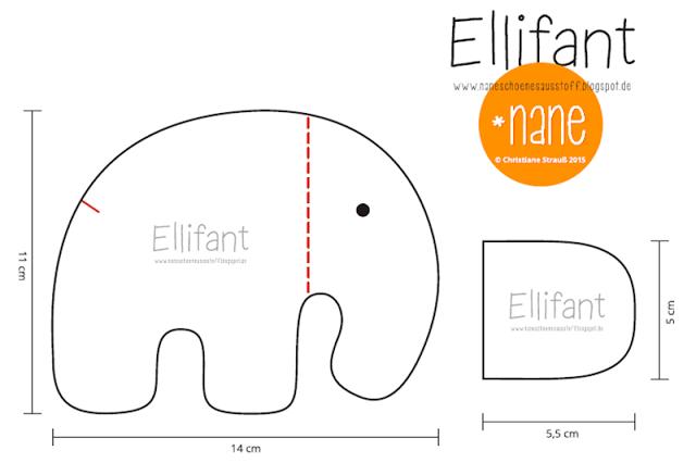 Tag 4 - *Nane - Ellifant nähen | nähen | Pinterest | Nähen, Elefant ...