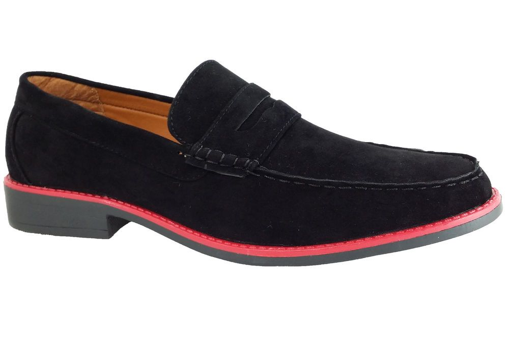 New Men's Casual Suede Moccasins Loafer Boat Deck Slip On Comfort Shoes #Syke #LoafersSlipOns