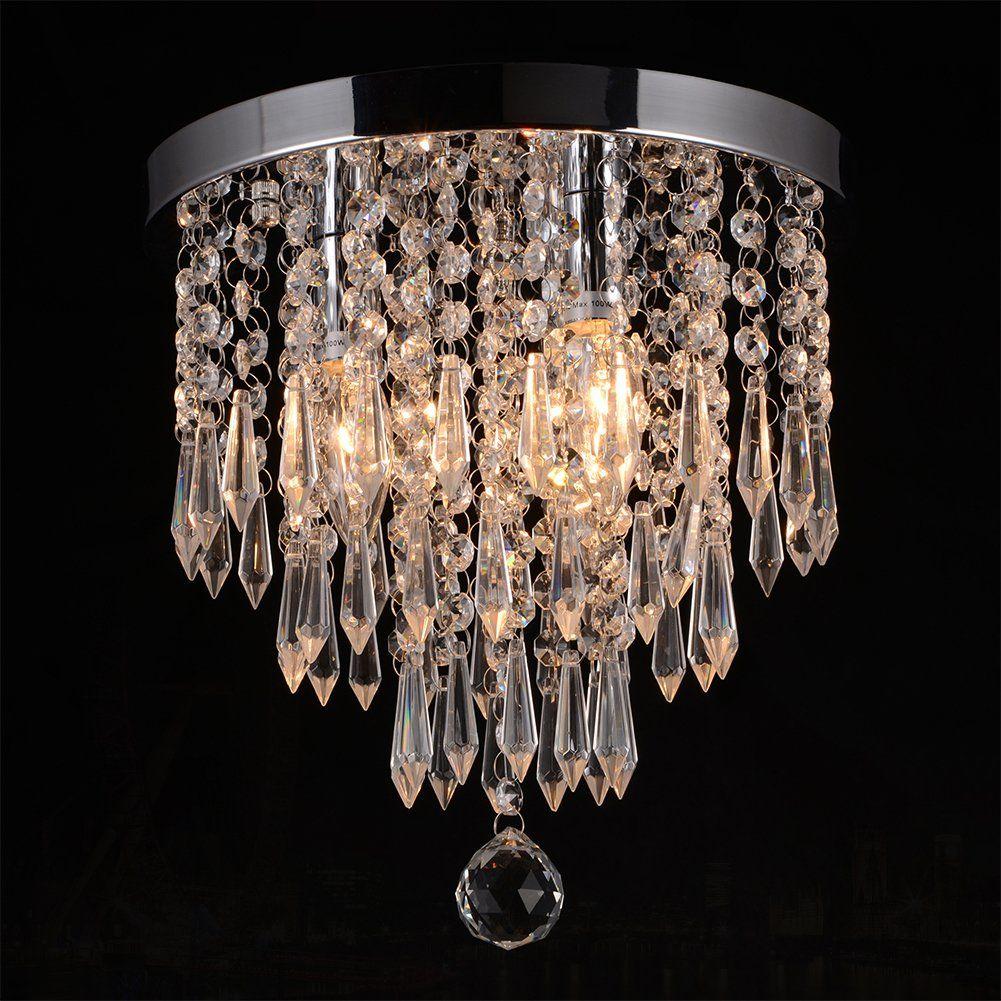 Hile lighting ku300107 crystal chandeliers flush mount ceiling light hile lighting ku300107 crystal chandeliers flush mount ceiling light lampdiameter 110 inch height 118 arubaitofo Choice Image