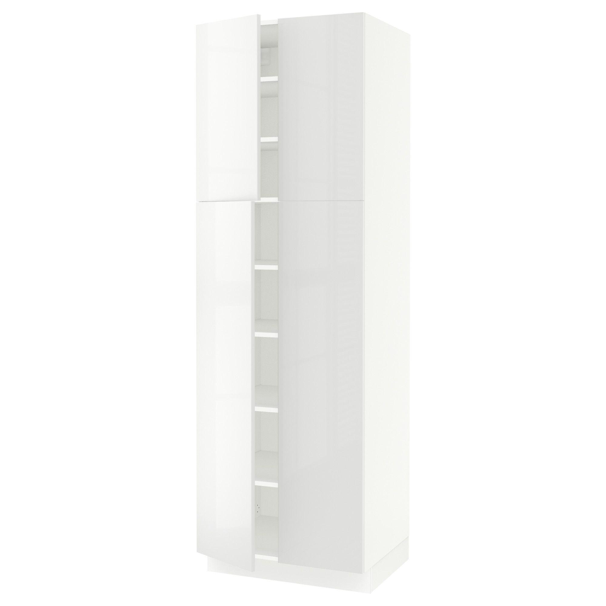 Sektion high cabinet with shelves u doors white ringhult white
