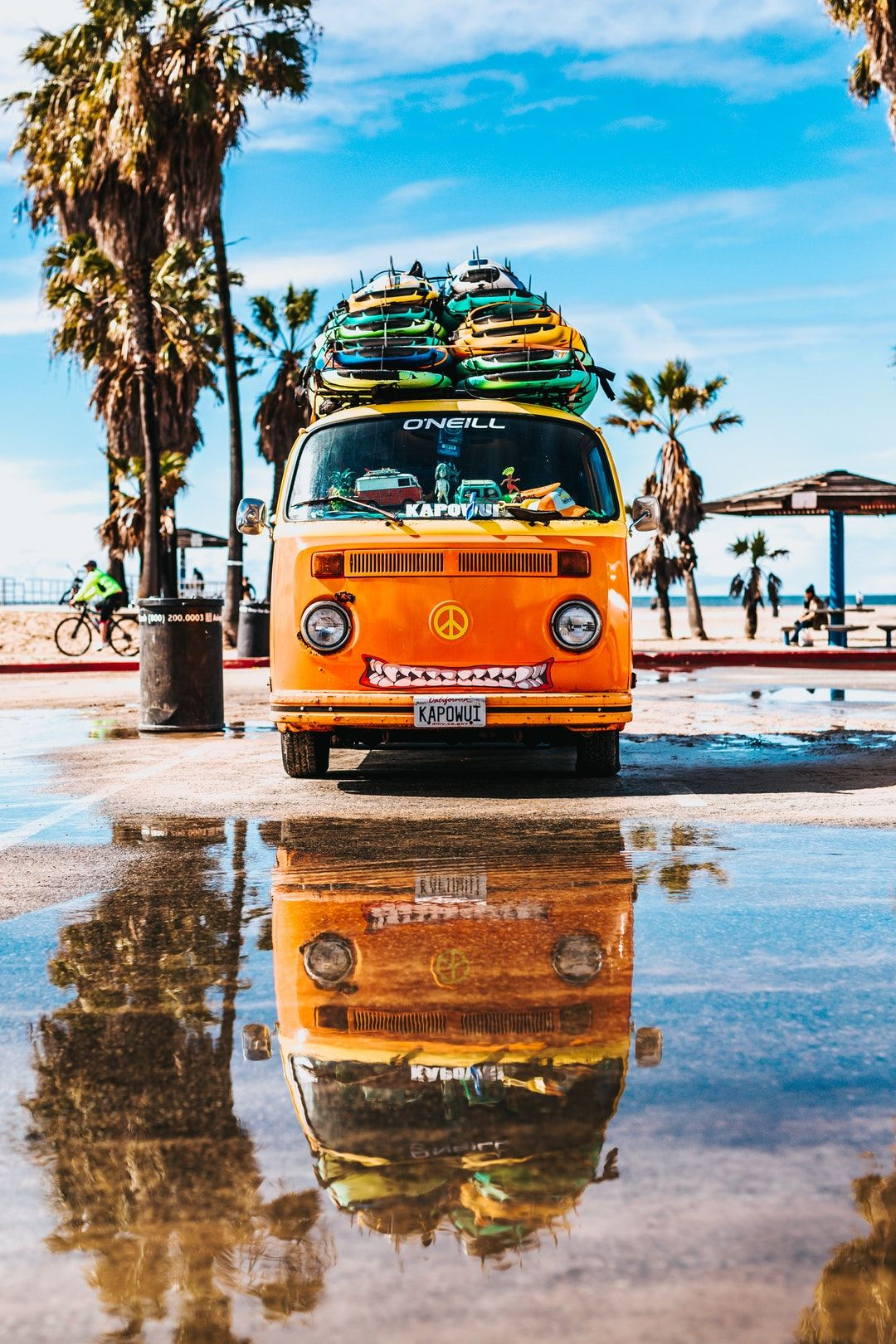 Download This Free Hd Photo Of Van Puddle Reflection And Sky By