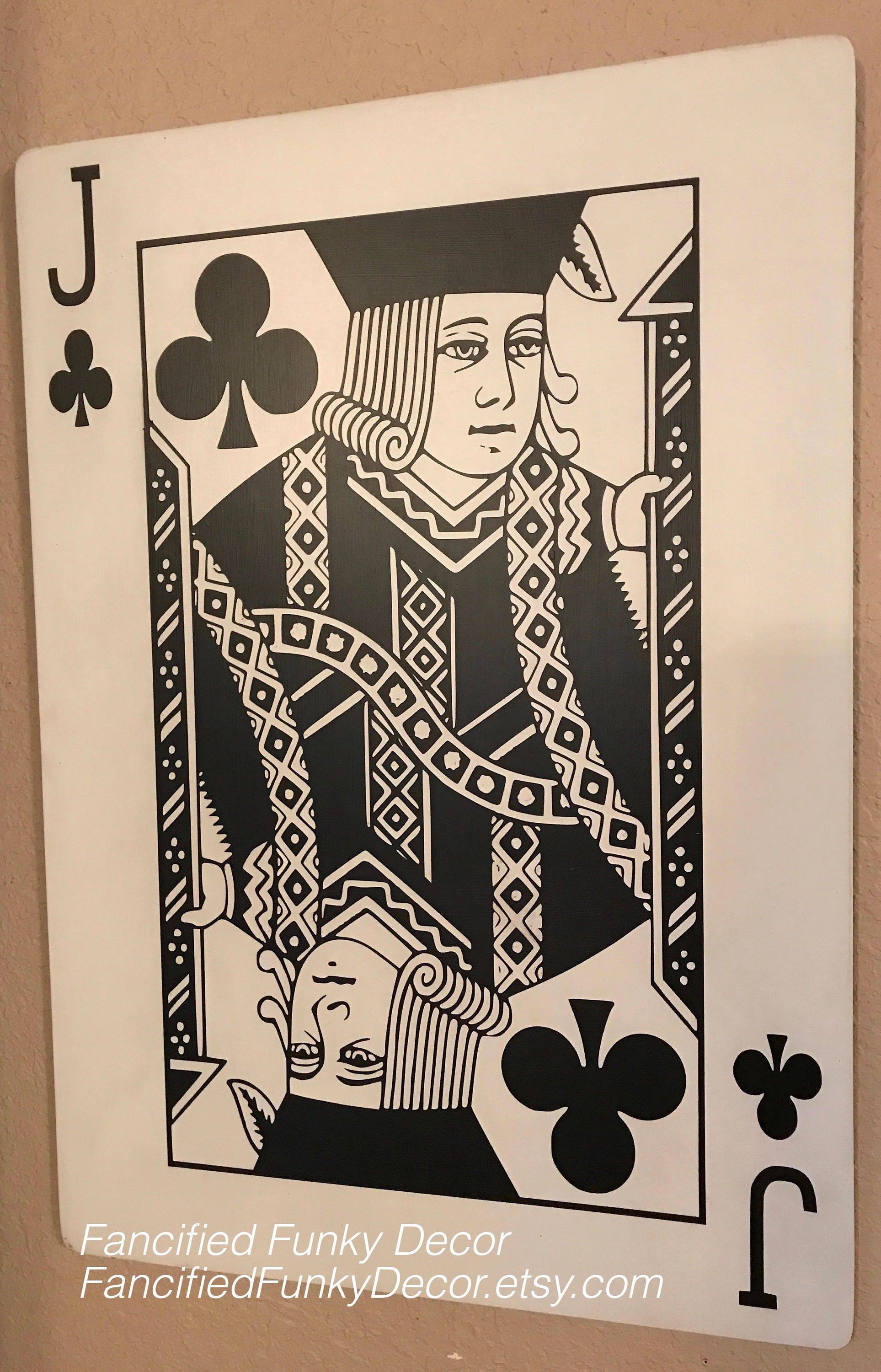 Face card large playing card oversize card jack queen