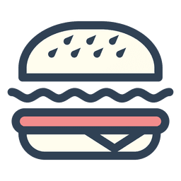 Burger Fast Food Stroke Icon Food Icon Png Burger Icon Food Icons