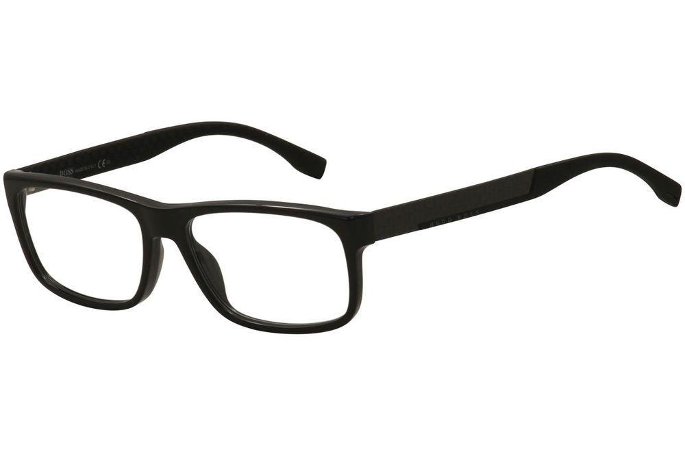 9484d079e51 Hugo Boss Men s Eyeglasses 0643 HXE Black Carbon Rectangle Optical Frame  56mm