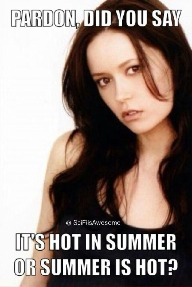 Well of course I have to repin this... Summer Glau