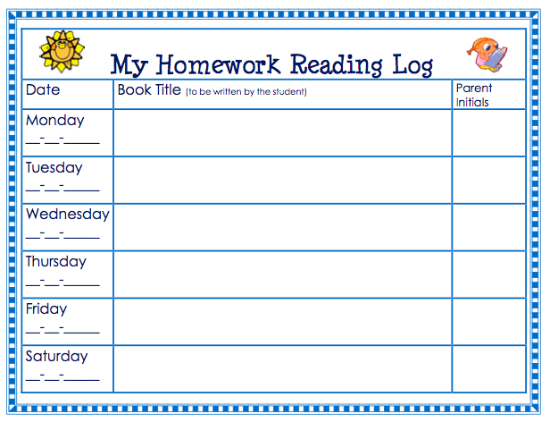 monthly reading logs for home parent letter journal printable kindergarten reading log best photos of 313