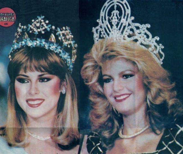 Pilin Leon Miss Mundo 1981 Y Irene Saez Miss Universo 1981 Miss World Beauty Pageant Miss America