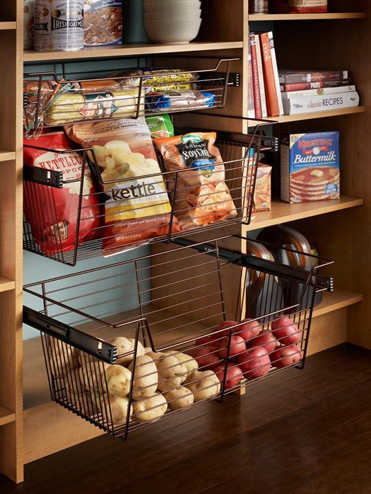 These Sliding Baskets Help Keep Your Pantry Super Organized Would You Add Something Like This In Home