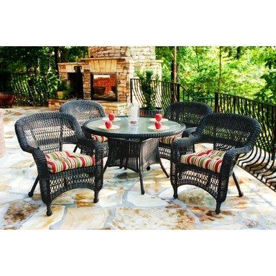 Portside 5 Piece Dining Set Fabric Color Haliwell
