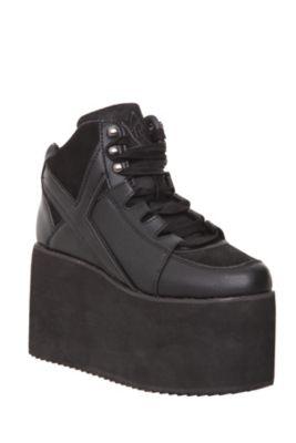3e9d24fa10a1 YRU Qozmo Hi-Black Platform Sneakers  55.65 on sale omg please
