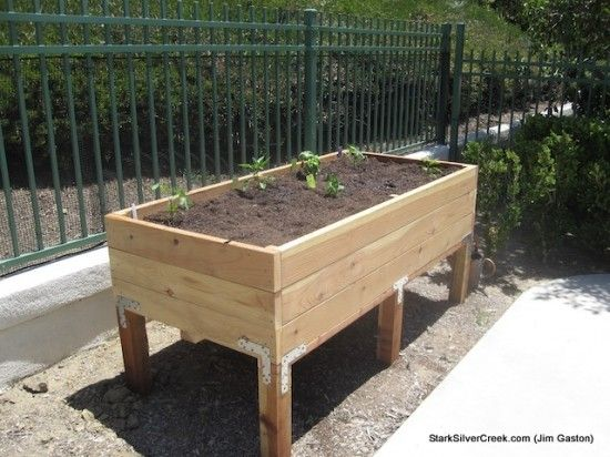 Easy planter box plans how to build a vegetable planter for Garden planter plans