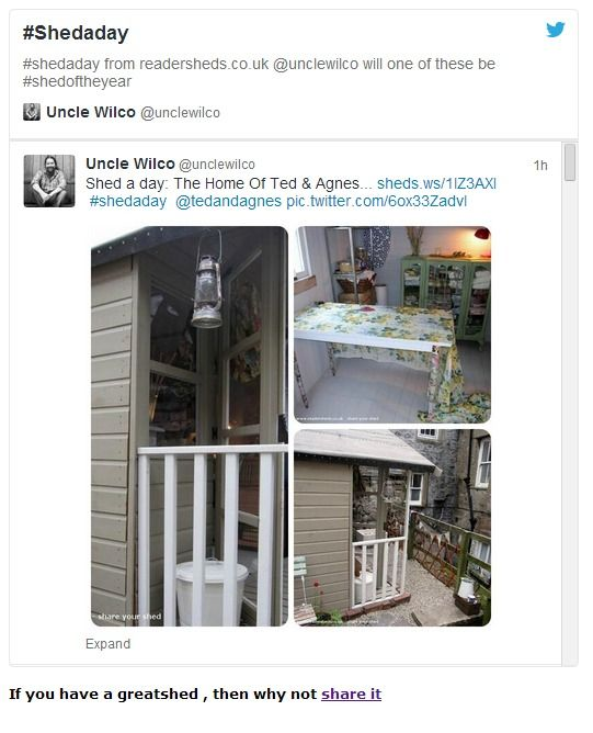 If You Want To Be Shedaday Then Add Photos To Your Shed On Readersheds Co Uk Shed Of The Year Shed Home