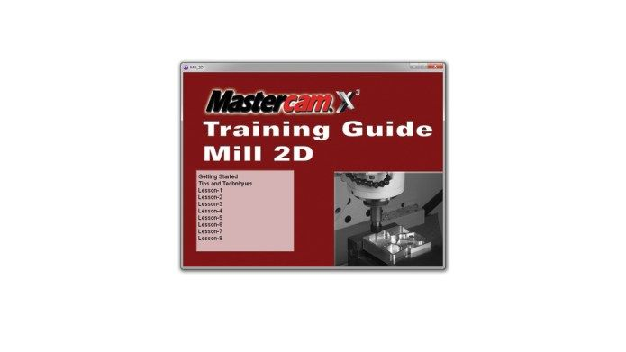 photo list of content of mastercam x3 training guide mill 2d videos rh pinterest com