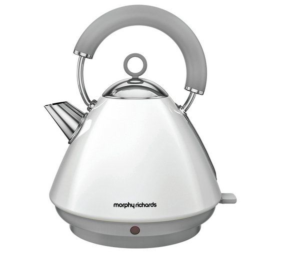 buy morphy richards 102031 accents pyramid white kettle at. Black Bedroom Furniture Sets. Home Design Ideas