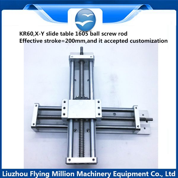 Linear Slide Stage Optical Axis Sliding Table Module X Y Cross Slide Table  Ball Screw Slider Effective