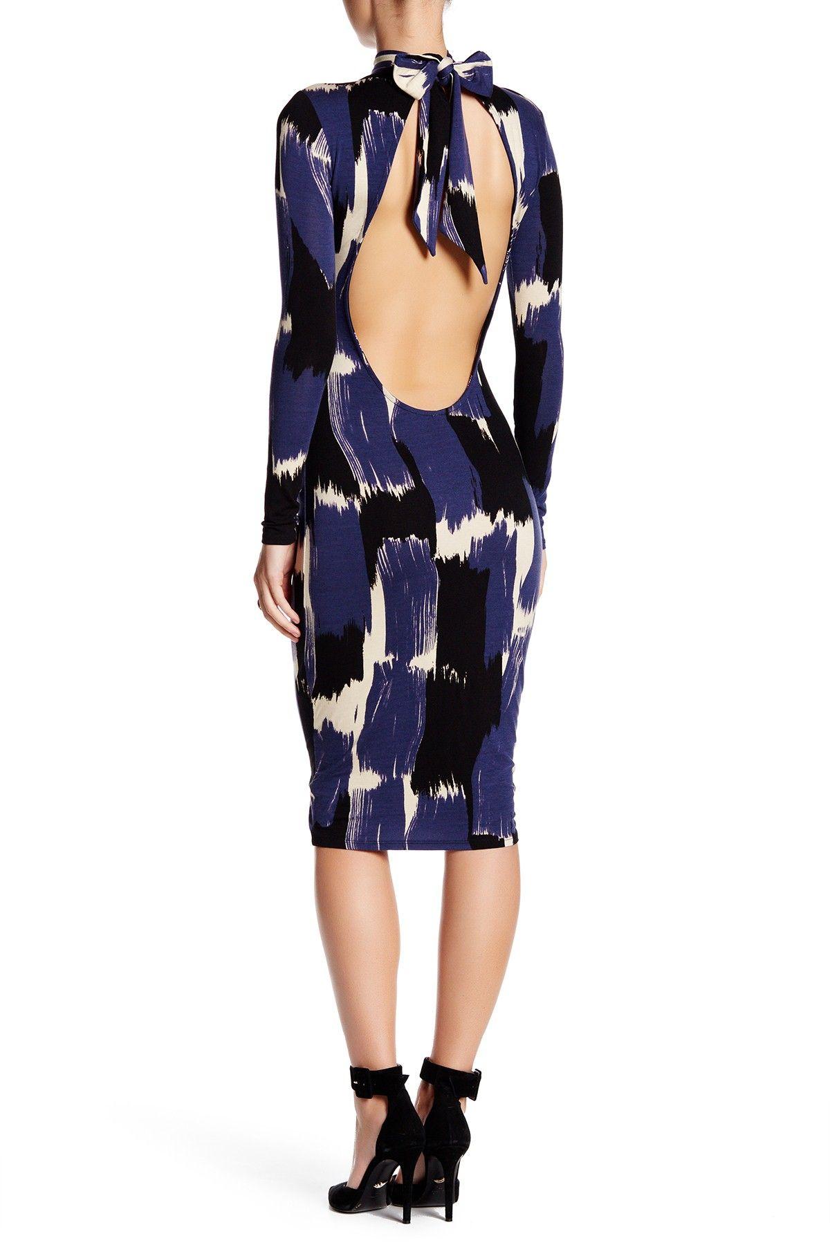 Long sleeve back tie print dress by rachel pally on hautelook
