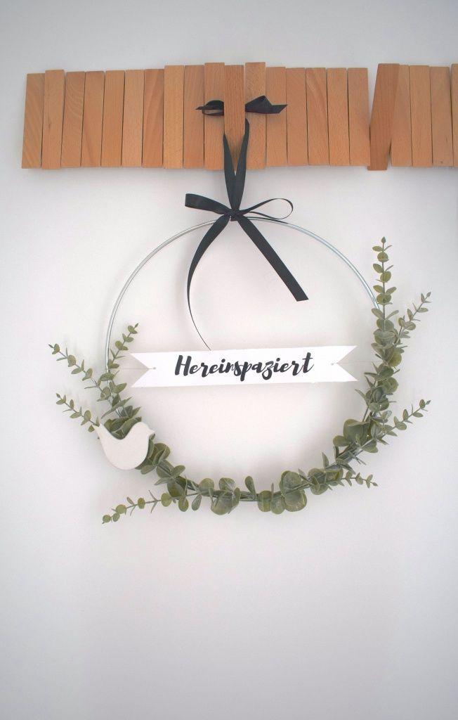 Photo of DIY door wreath with freshness guarantee – Kreativ-welt.de