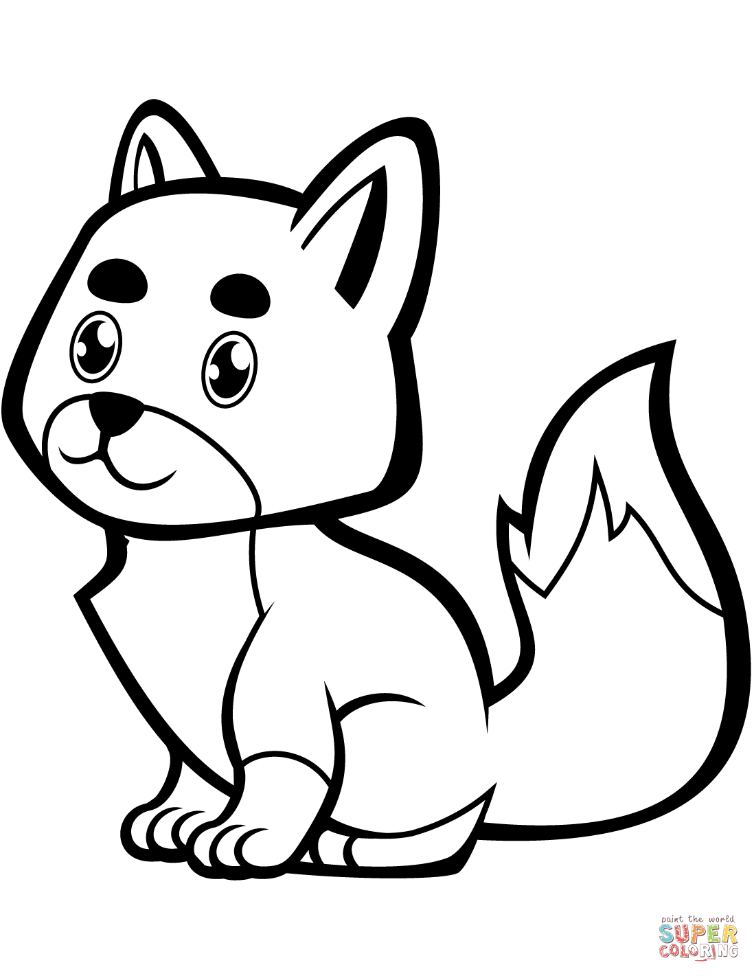 Cute Baby Fox Coloring Page Free Printable Coloring Pages Fox Coloring Page Giraffe Coloring Pages Coloring Pages