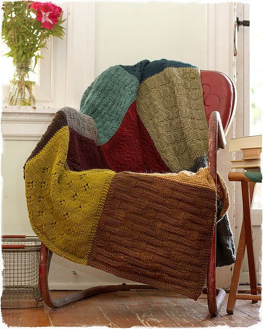 Make a blanket from old sweaters. COZY!