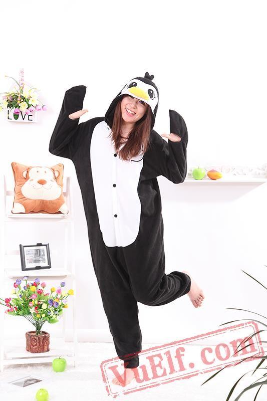 Black Penguin Onesie Pajamas Adult Animal Onesie Costumes Onesie
