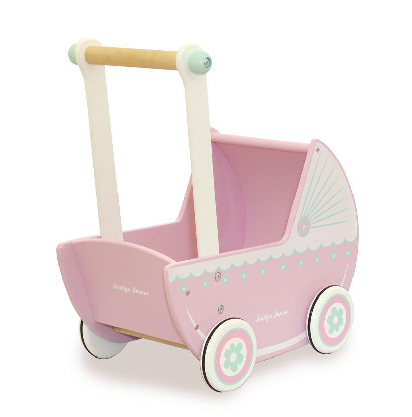 Pink Wooden Doll Pram Crafts Wooden Toys Toys Dolls Prams