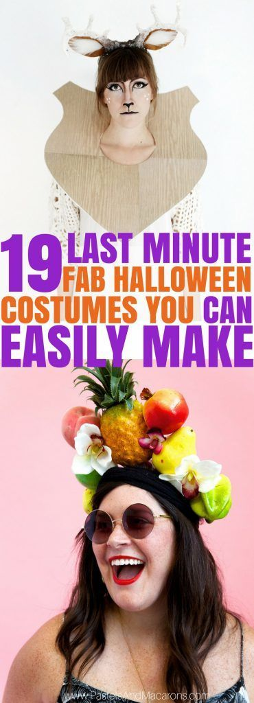 19 Last Minute Awesome DIY Halloween Costumes You Can Quickly Make - last minute halloween costume ideas teens
