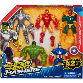 Micro Hulk /& Iron Man Super Hero Mashers Hulk Buster Fury Force Figure Set