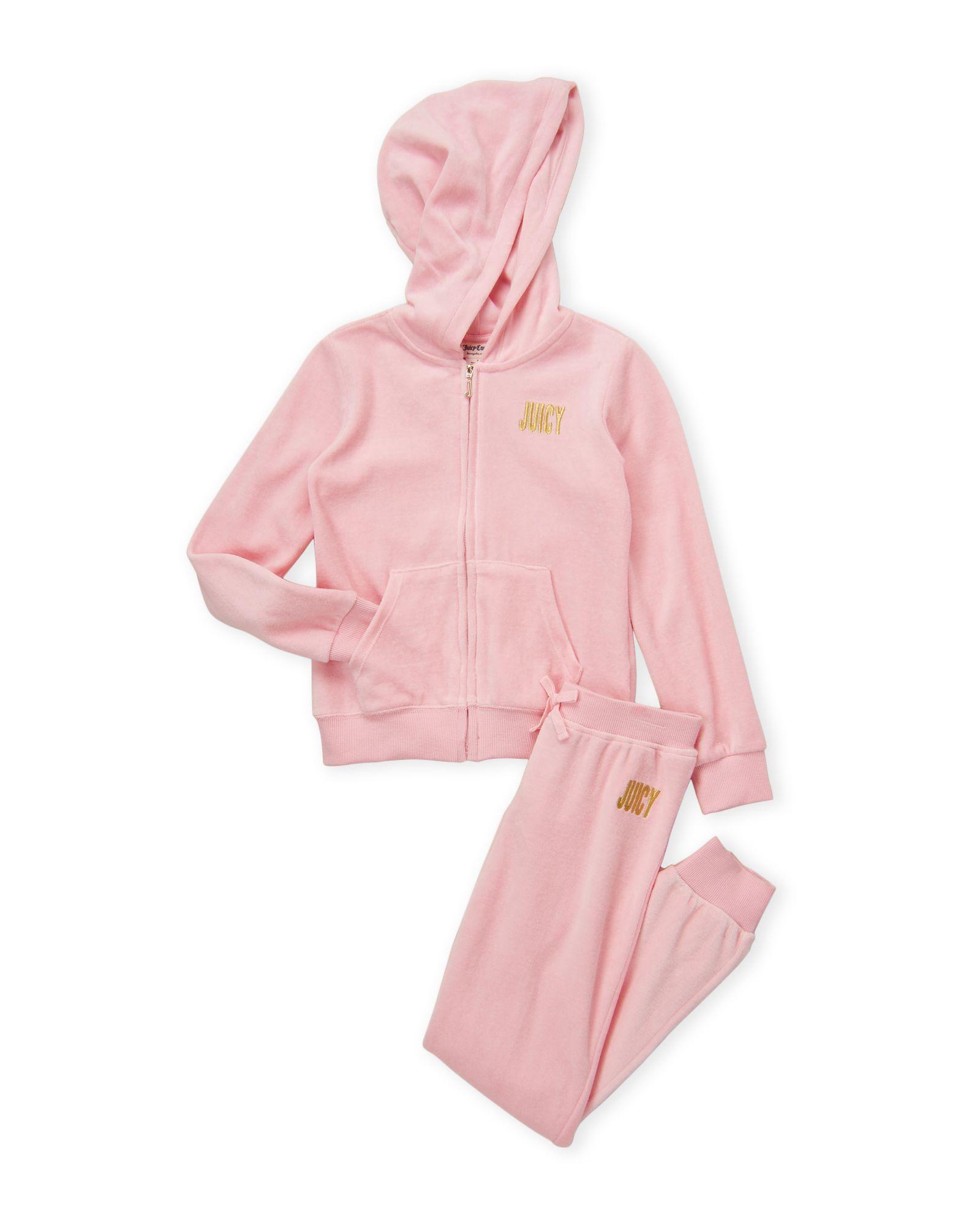 14b87065ce Juicy Couture (Girls 4-6x) 2-Piece Pink Velour Sweatsuit | *Apparel ...