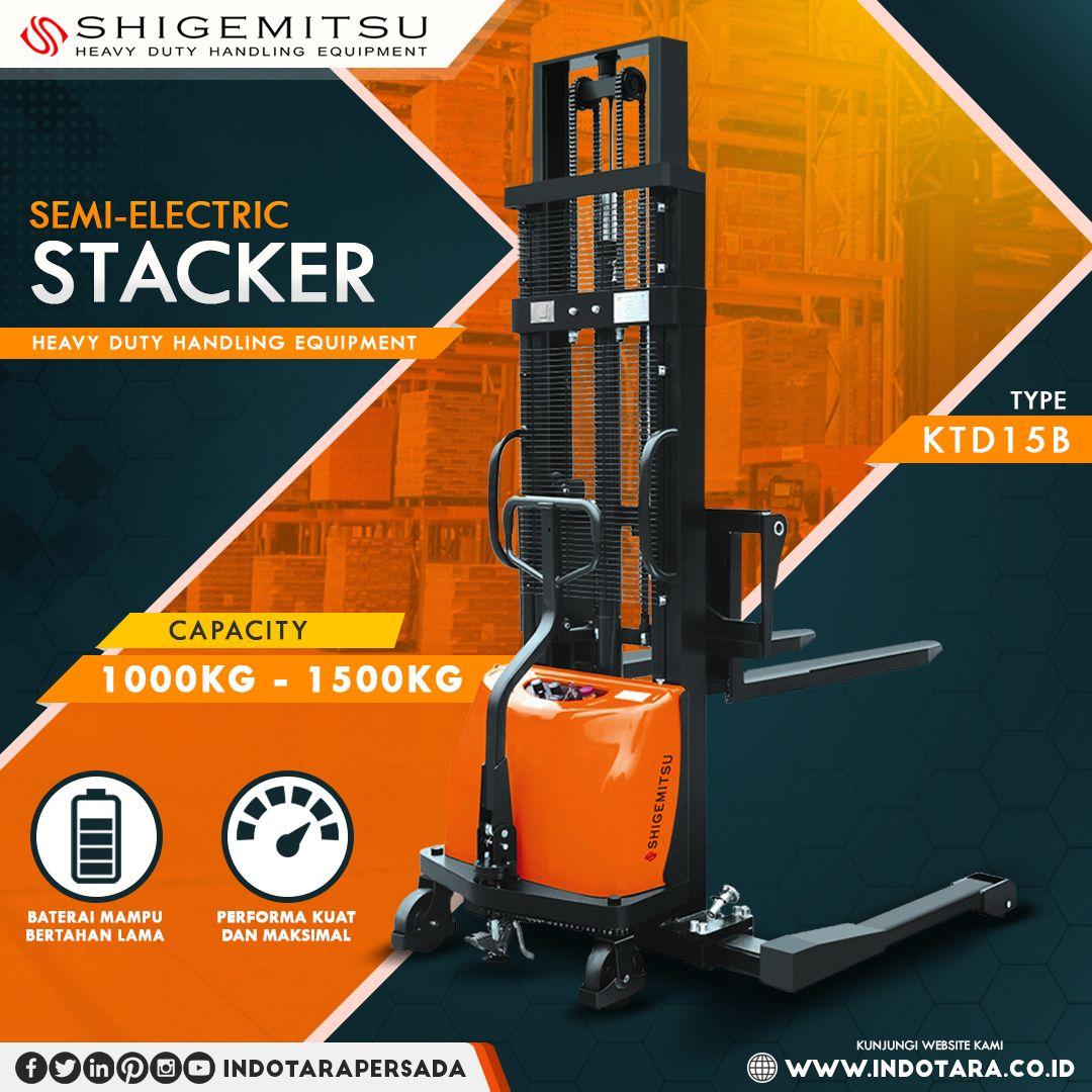 Shigemitsu Semi Electric Stacker Stackers Electricity Warehouse Equipment
